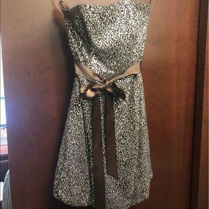 Jessica McClintock short, sleeveless party dress.